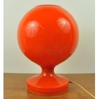 Lampe en verre orange seventies