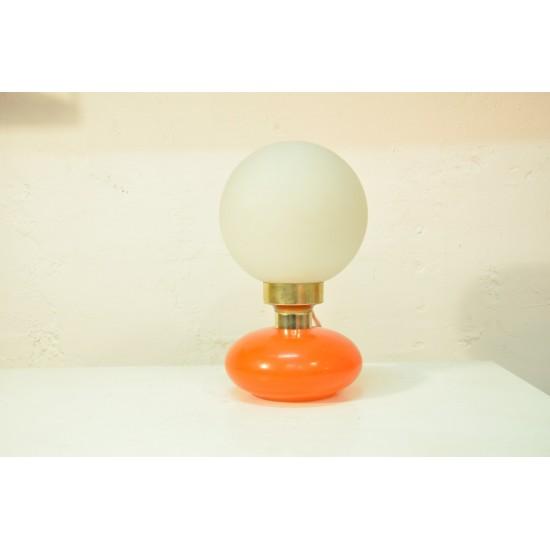 Lampe en verre vintage