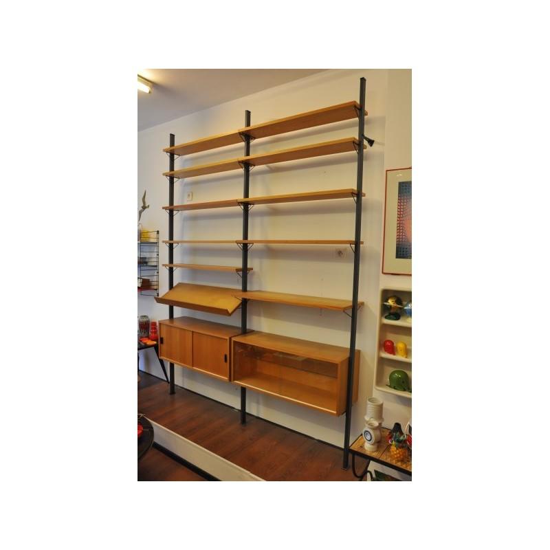 biblioth que modulable pira polychrome vintage design. Black Bedroom Furniture Sets. Home Design Ideas