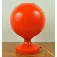 Lampe en verre orange seventies