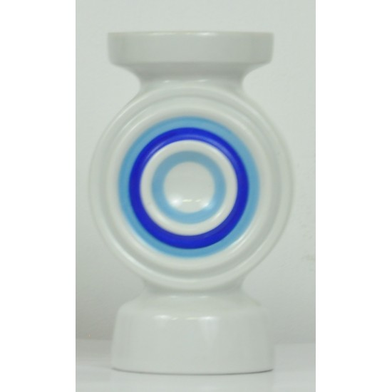 Vase ou bougeoir en porcelaine - pop art